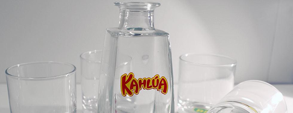 Tampotryckslider-glas